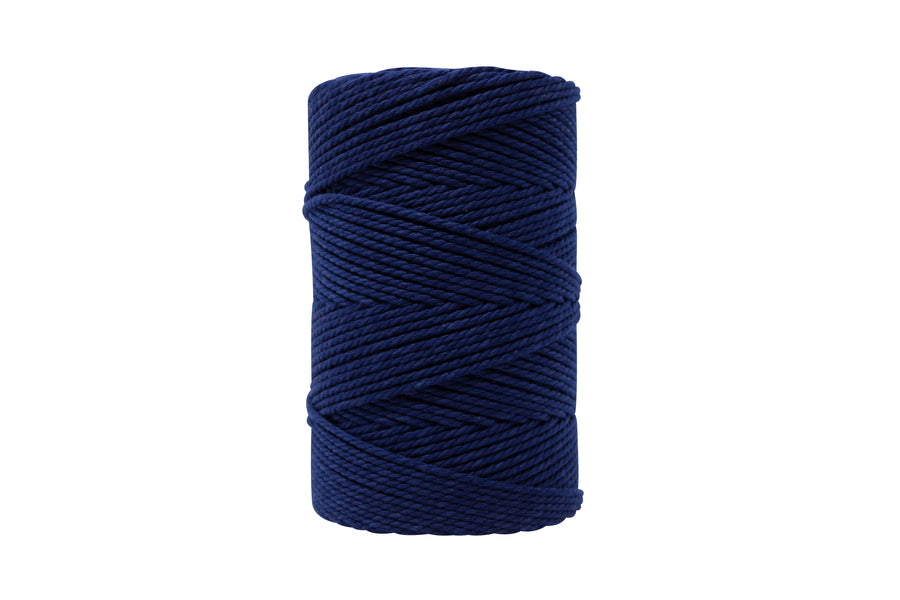 COTTON ROPE 2 MM - 3 PLY - NAVY BLUE COLOR