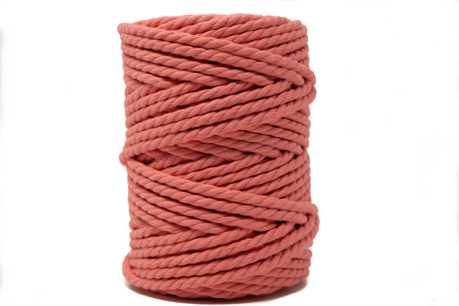 COTTON ROPE ZERO WASTE 5 MM - 3 PLY- SALMON COLOR