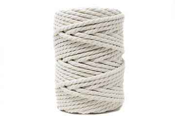 COTTON ROPE ZERO WASTE 5 MM - 3 PLY - NATURAL COLOR