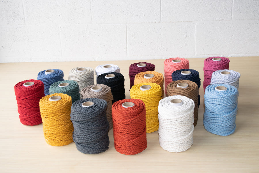 COTTON ROPE ZERO WASTE 5 MM - 3 PLY  - TAUPE COLOR