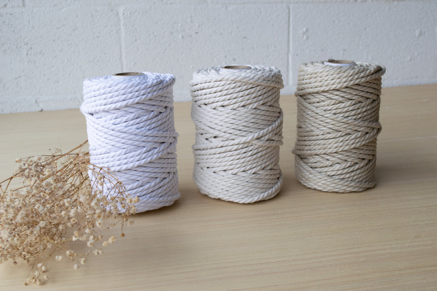 COTTON ROPE 5 MM - 3 PLY - NATURAL LINEN COLOR