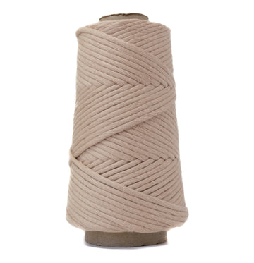 COMBED COTTON CONE 4 MM - WARM BEIGE COLOR