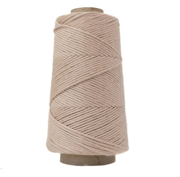 COMBED COTTON CONE 2 MM - TAN COLOR