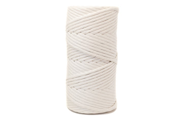SOFT COTTON CORD 8 MM - 1 SINGLE STRAND - NATURAL COLOR