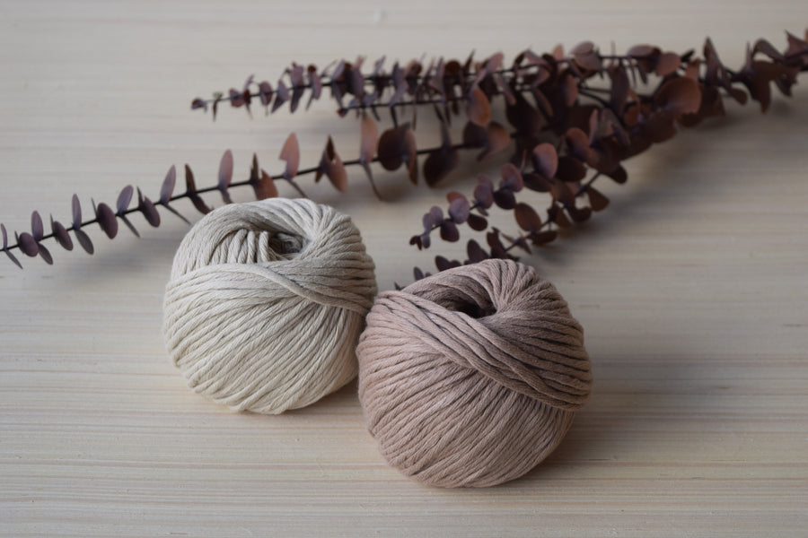 ORGANIC COTTON BALL 2MM - LATTE COLOR