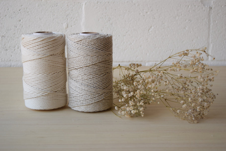 COTTON ROPE 2 MM - 3 PLY - OFF-WHITE COLOR