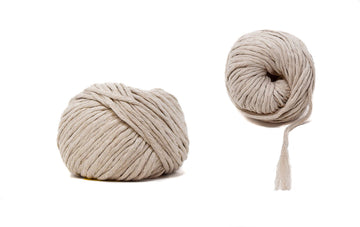 COTTON BALL ZERO WASTE 3 MM - BEIGE COLOR