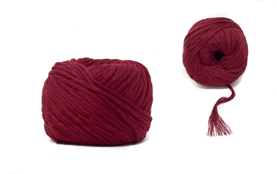 COTTON BALL ZERO WASTE 3 MM - BORDEAUX COLOR
