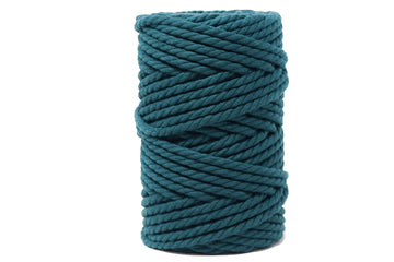 COTTON ROPE ZERO WASTE 5 MM - 3 PLY - HUNTER GROVE GREEN COLOR