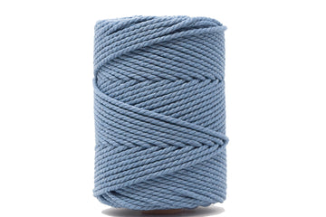 COTTON ROPE ZERO WASTE 3 MM - 3 PLY -BLUE JEANS COLOR