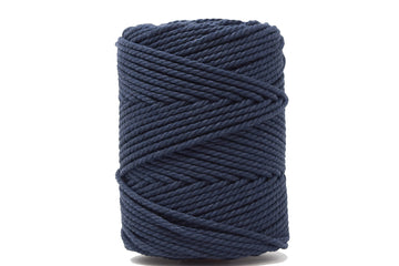 COTTON ROPE ZERO WASTE 3 MM - 3 PLY - NAVY BLUE COLOR