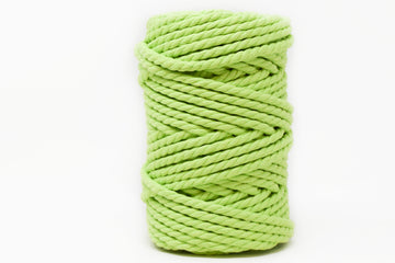 COTTON ROPE ZERO WASTE 5 MM - 3 PLY - LIME GREEN COLOR