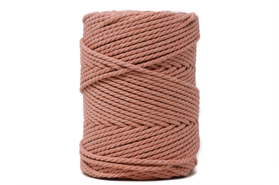 COTTON ROPE ZERO WASTE 3 MM - 3 PLY - DUSTY PINK COLOR