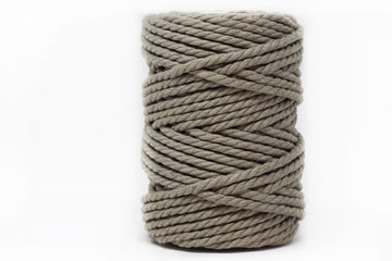 COTTON ROPE 5 MM - 3 PLY - TAUPE COLOR