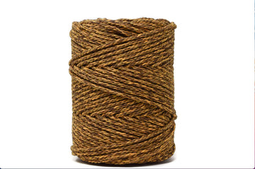 DUAL COTTON ROPE ZERO WASTE 3 MM - 3 PLY - CITRUS + CHOCOLATE COLOR