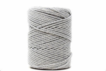 DUAL COTTON ROPE ZERO WASTE 3 MM - 3 PLY - SOFT GRAY + NATURAL COLOR