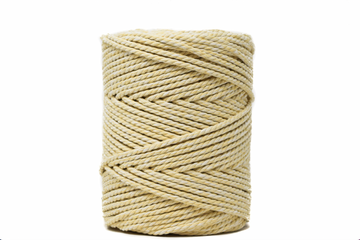 DUAL COTTON ROPE ZERO WASTE 3 MM - 3 PLY - SUNFLOWER + NATURAL COLOR