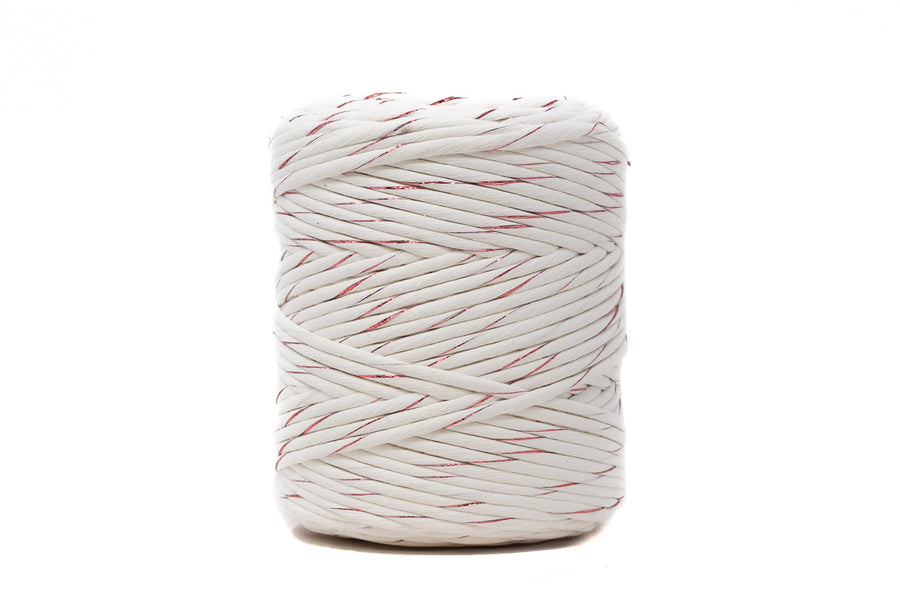 METALLIC COTTON CORD ZERO WASTE 4 MM - 1 SINGLE STRAND - ROSÉ