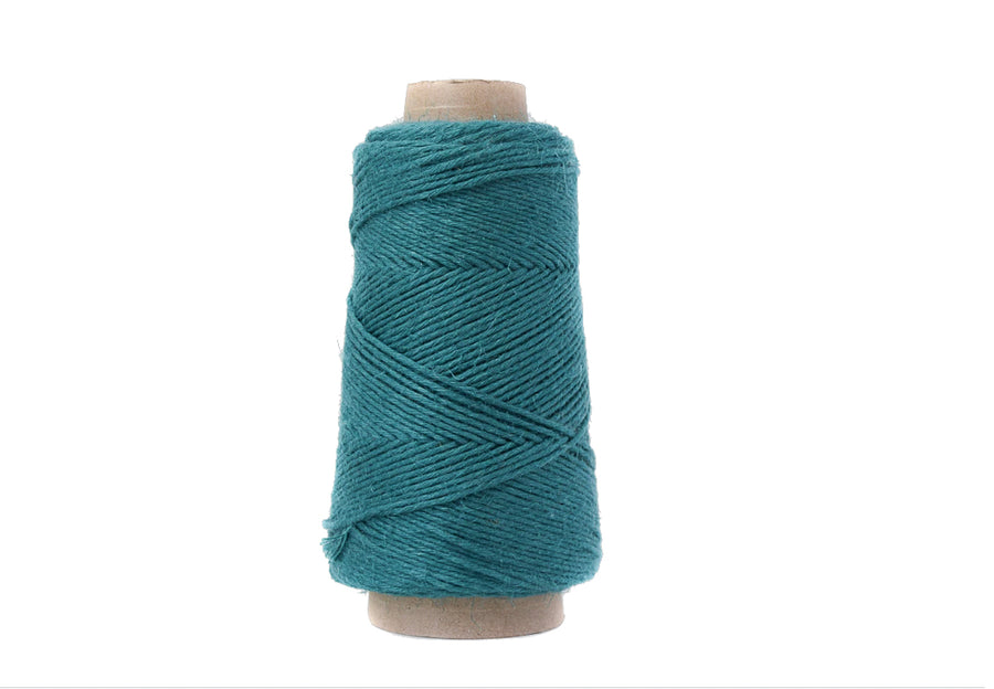 NATURAL LINEN - 1.5 MM - DARK CYAN COLOR