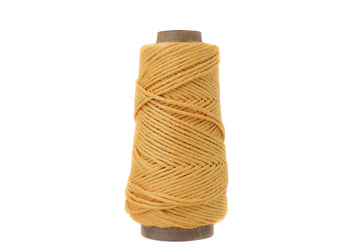 NATURAL LINEN - 2.5 MM - SUNFLOWER YELLOW COLOR
