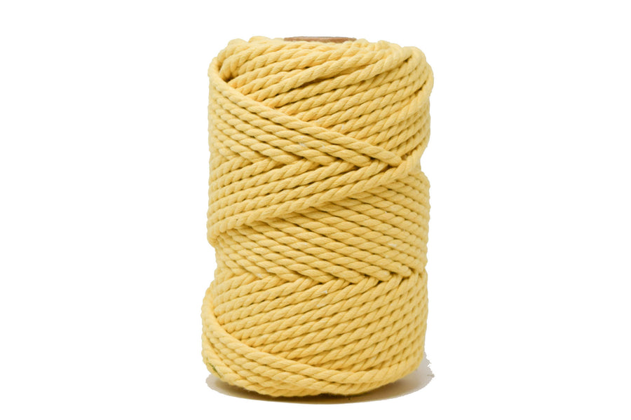 COTTON ROPE ZERO WASTE 5 MM - 3 PLY - SUNFLOWER YELLOW COLOR