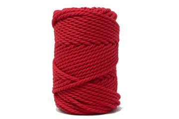 COTTON ROPE ZERO WASTE 5 MM - 3 PLY - RED COLOR