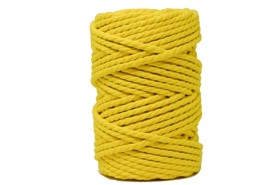 COTTON ROPE ZERO WASTE 5 MM - 3 PLY  - YELLOW COLOR