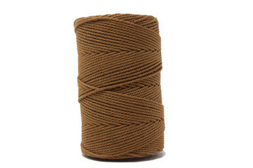 COTTON ROPE ZERO WASTE 2 MM - 3 PLY - CAMEL COLOR