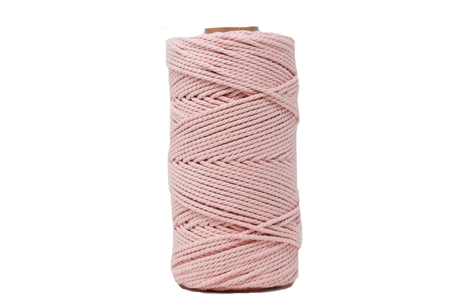 COTTON ROPE ZERO WASTE 2 MM - 3 PLY - CHERRY BLOSSOM COLOR