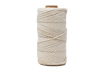 COTTON ROPE ZERO WASTE 2 MM - 3 PLY - OFF-WHITE COLOR