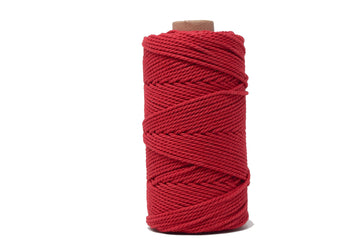 COTTON ROPE ZERO WASTE 2 MM - 3 PLY - RED COLOR