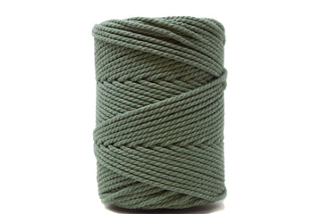 COTTON ROPE ZERO WASTE 3 MM - 3 PLY - EUCALYPTUS COLOR