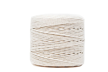 COTTON ROPE ZERO WASTE 4 MM - 3 PLY - NATURAL COLOR