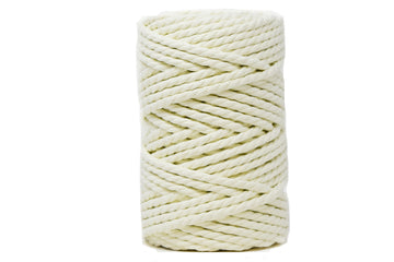 COTTON ROPE ZERO WASTE 5 MM - 3 PLY - ICE LEMON COLOR