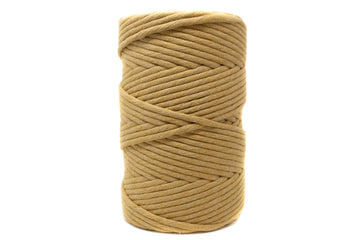 JUMBO SOFT COTTON CORD 8 MM - 1 SINGLE STRAND - CAFE LATTE COLOR