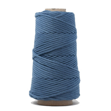 COMBED COTTON CONE 4 MM - BLUE COLOR