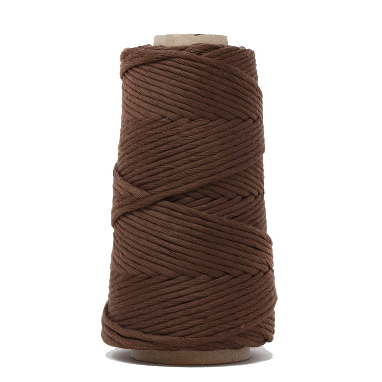 COMBED COTTON CONE 4 MM - CHOCOLATE COLOR