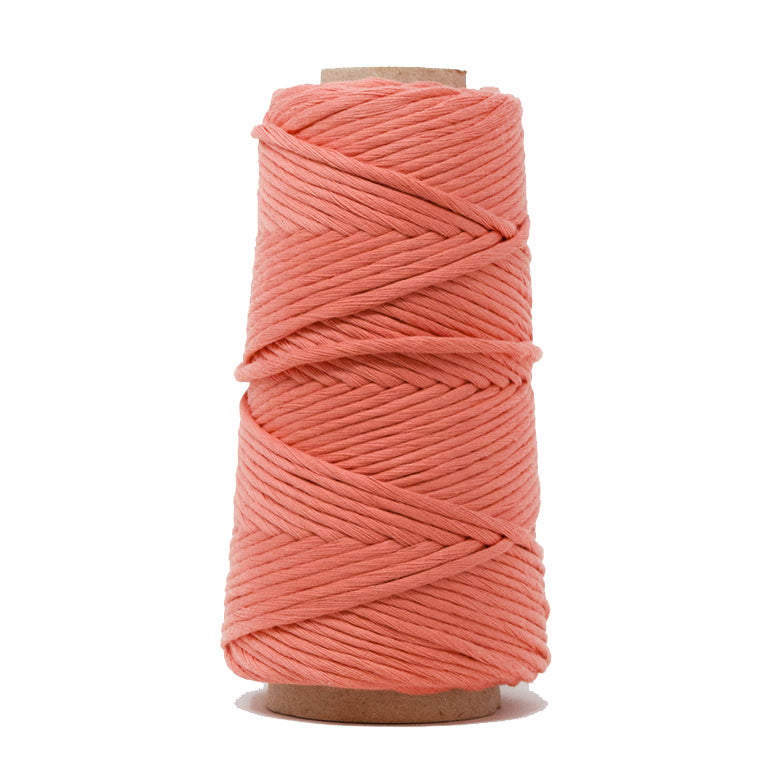 COMBED COTTON CONE 4 MM - CORAL COLOR