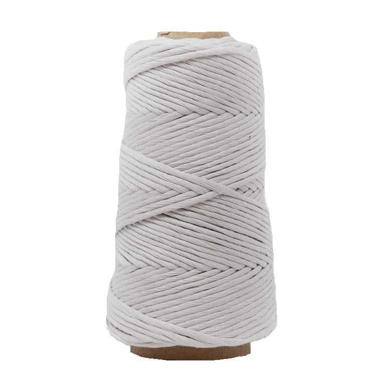 COMBED COTTON CONE 4 MM - LIGHT GRAY COLOR