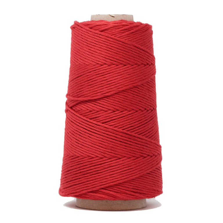 COMBED COTTON CONE 2 MM - RED COLOR