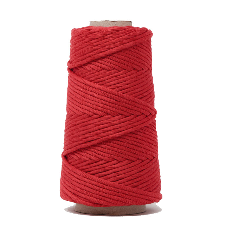 COMBED COTTON CONE 4 MM - RED COLOR