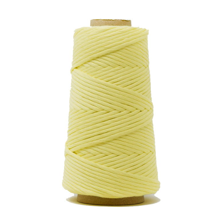 COMBED COTTON CONE 4 MM - SOFT YELLOW COLOR