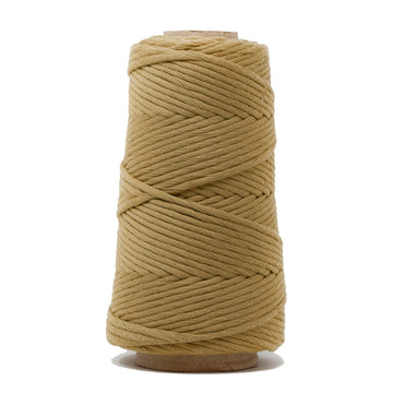 COMBED COTTON CONE 4 MM - TAUPE COLOR