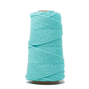 COMBED COTTON CONE 4 MM - TURQUOISE COLOR