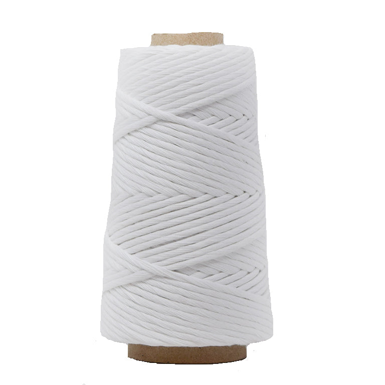 COMBED COTTON CONE 4 MM - WHITE COLOR
