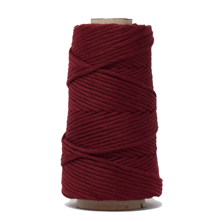 COMBED COTTON CONE 4 MM - WINE COLOR