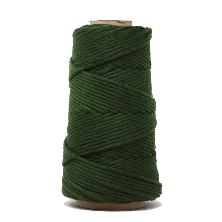 COMBED COTTON CONE 4 MM - EVERGREEN COLOR