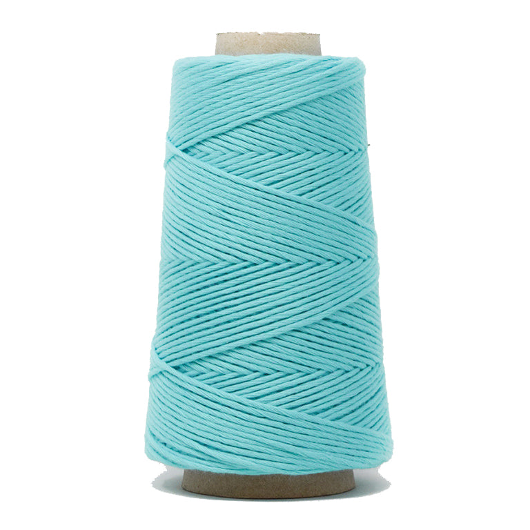 COMBED COTTON CONE 2 MM - TURQUOISE COLOR
