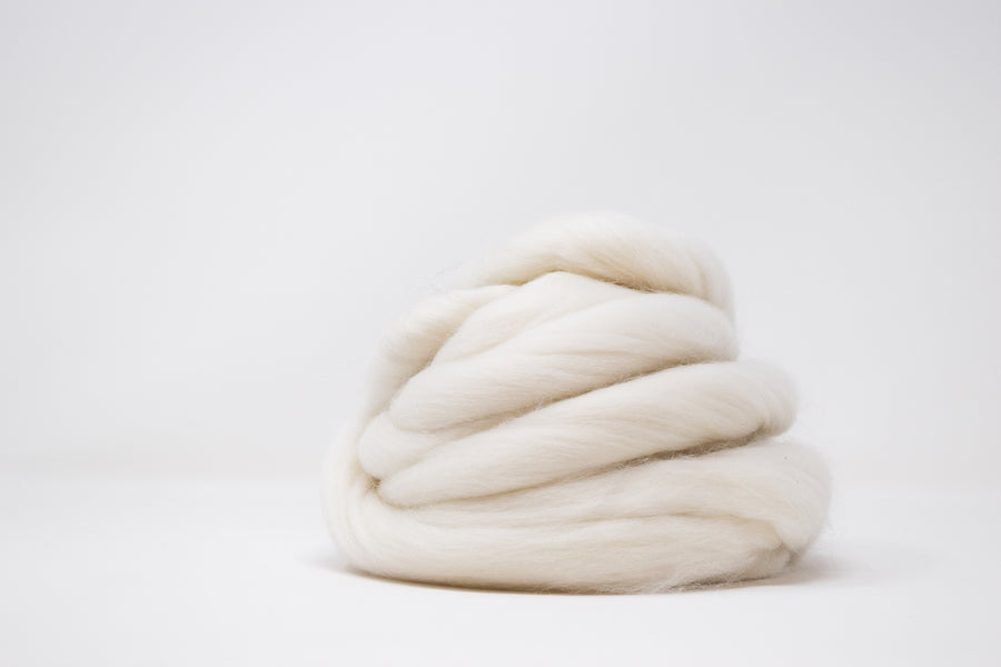 MERINO WOOL ROVING - NATURAL