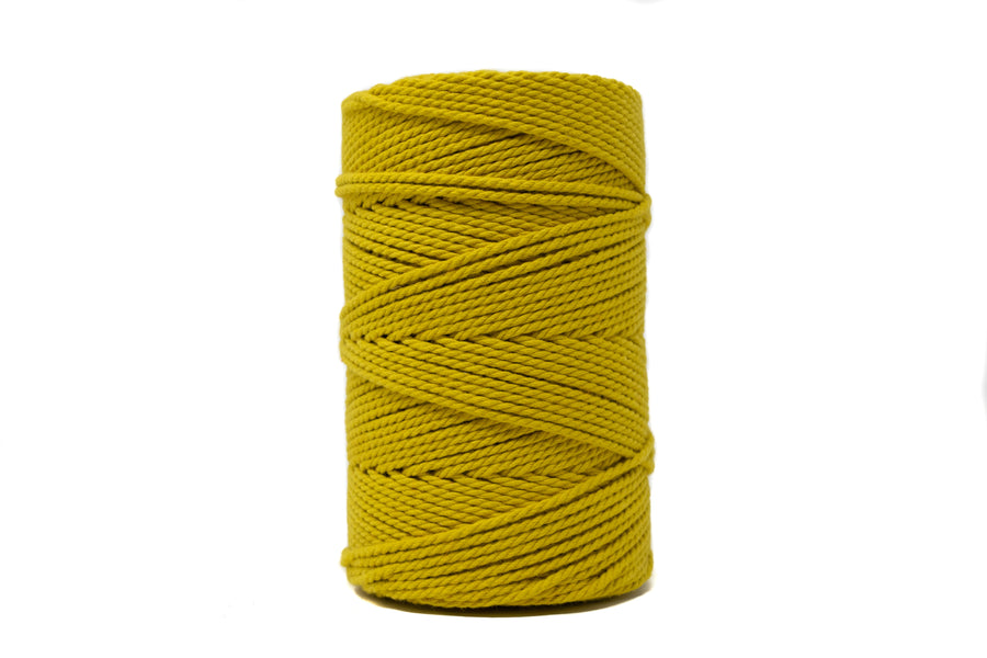 COTTON ROPE 2 MM - 3 PLY - CITRON COLOR
